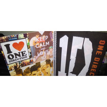 Kit One Direction Caderno 1m Chaveiro Adesivos