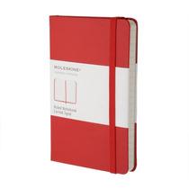 Caderno Moleskine Original Classico Pautado Verm - De Bolso