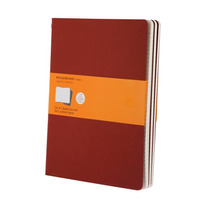Caderno Moleskine Cahier Original Kit C. 3 - Pautado Verm Xg
