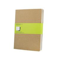 Caderno Moleskine Cahier Original S Pauta Gg Kit C/ 3 Kraft