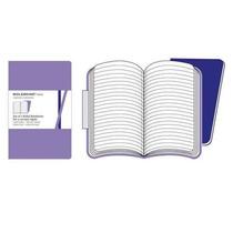 Moleskine Volant Kit 2 Cadernos Violeta Pautados - Grande