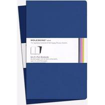 Caderno Moleskine Volant - Grande - Sem Pauta - Azul - 8619