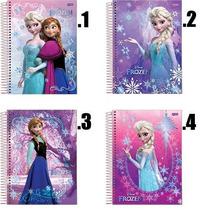 Caderno Frozen - Brochura Ou Aspiral - 1x1 96 Folhas