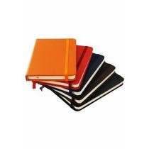 Caderneta Tipo Moleskine, 14,0 Cm X 8,7 Cm, Couro Sintético