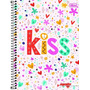 Caderno Flex 10 Matérias 200 Fls Mais+ Feminino Kiss