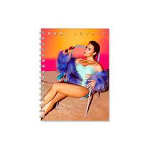 Caderno Demi Lovato 1 Materias Com Adesivos