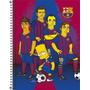 Caderno 200 Folhas Espiral Os Simpsons Barcelona 10 Materias