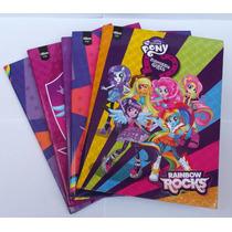 Caderno Brochurão Equestria Girls 96 Folhas Pacote C/ 5 Unid