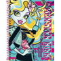 Caderno Capa Dura Universitário Monster High 1 Matéria - T