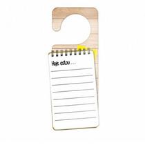 Aviso De Porta Hoje Estou Caderno De Anotação