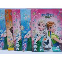 Caderno Brochurão 96 Folhas Frozen Jandaia Pacotes C/ 5 Und