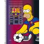 Caderno Espiral Universitário Simpsons Barcelona 10 Matérias