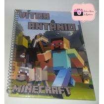 Caderno Personalizado Com O Nome Do Minecraft De 1 Materia
