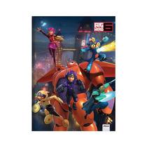 Caderno Brochurão Capa Dura Costurado Big Hero 6 - 5 Unidade