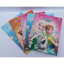 Caderno Brochurao Frozen 96 Folhas Jandaia Pacotes C/5 Unid.