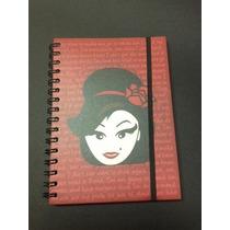 Caderno Amy Lee 16 Materia Com Adesivos