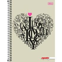 Cadernol Flex 10 Matérias 200 Fls Mais+ Feminino Love