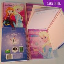 Caderno Espiral Capa Dura Frozen Escolar Pequeno Sortidas