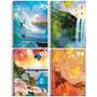 Caderno 12 Matérias Happy Credeal Pacote Com 3 Unid 168 Fls