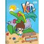 Caderno Pedagógico Brochura Capa Dura Quadriculado Kids 40fl