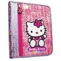 Fichario Hello Kitty Completo Folha E Divisoria C/ziper