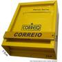 Caixa Correio Horizontal Aço Embutir Grade 23x23x7,5 Amarela