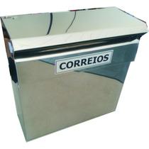 Caixa De Correio Inox Para Grade Horizontal