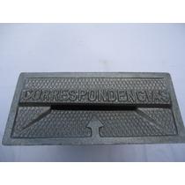 Caixa De Correio Em Alumínio Bloco C/ Visor De Vidro