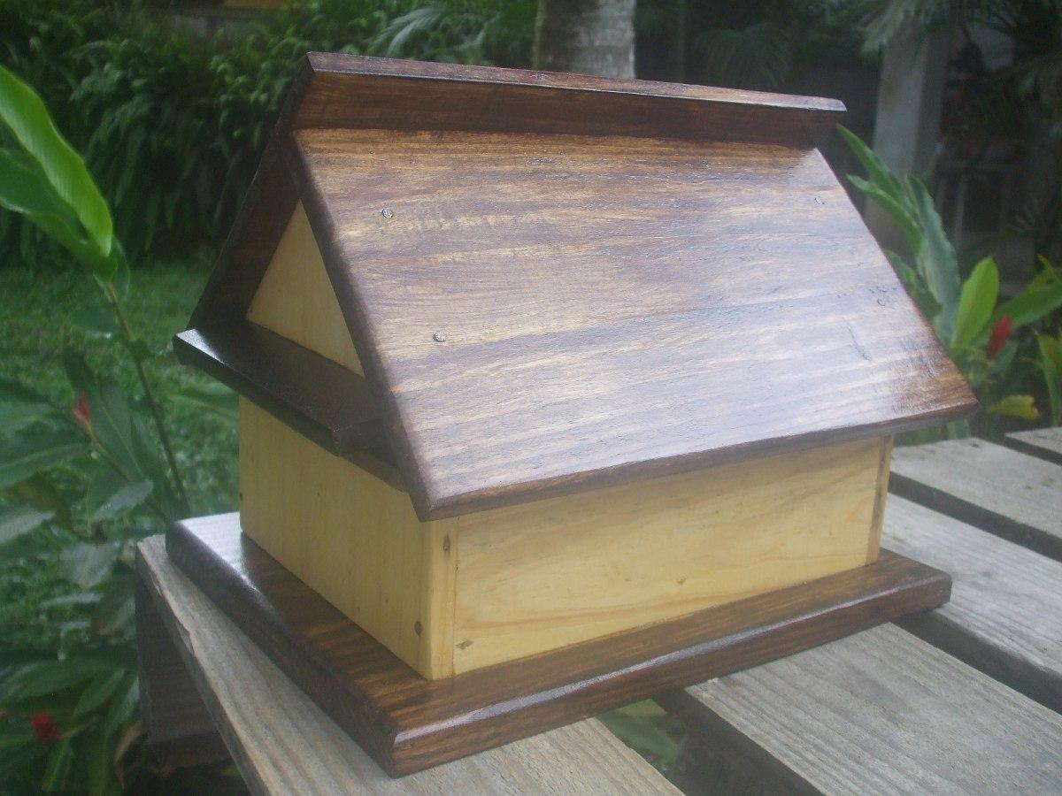 Caixa De Correio Em Madeira Modelo Casinha R$ 125 00 no  #857346 1200x900
