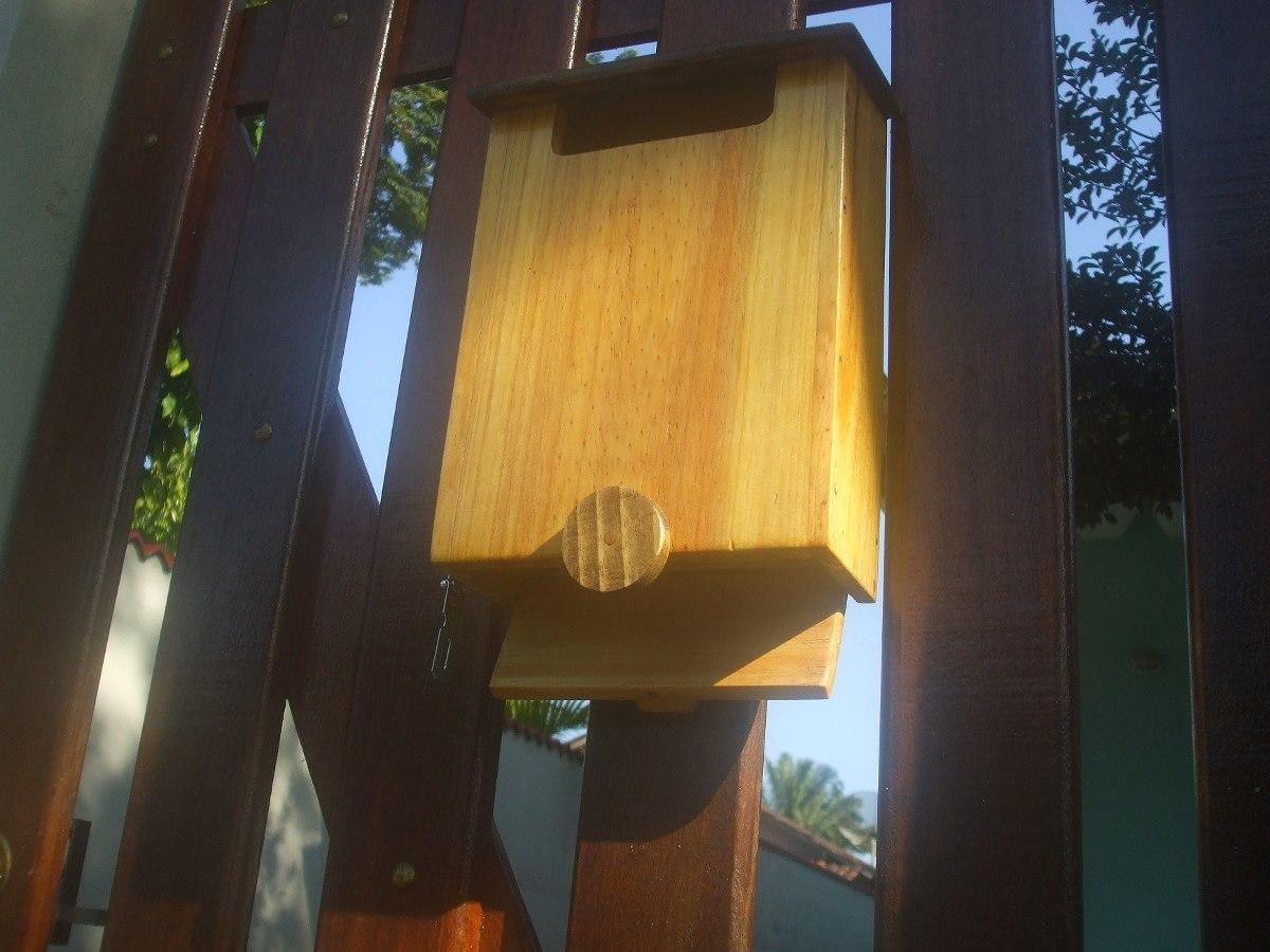 Caixa De Correio Em Madeira Para Portão Ou Muro Lado Externo R$ 110  #AF821C 1200x900