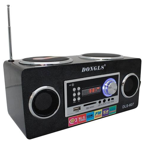 Caixa De Som Portátil Rádio Mp3 Entrada Usb Pen Drive Sd Aux