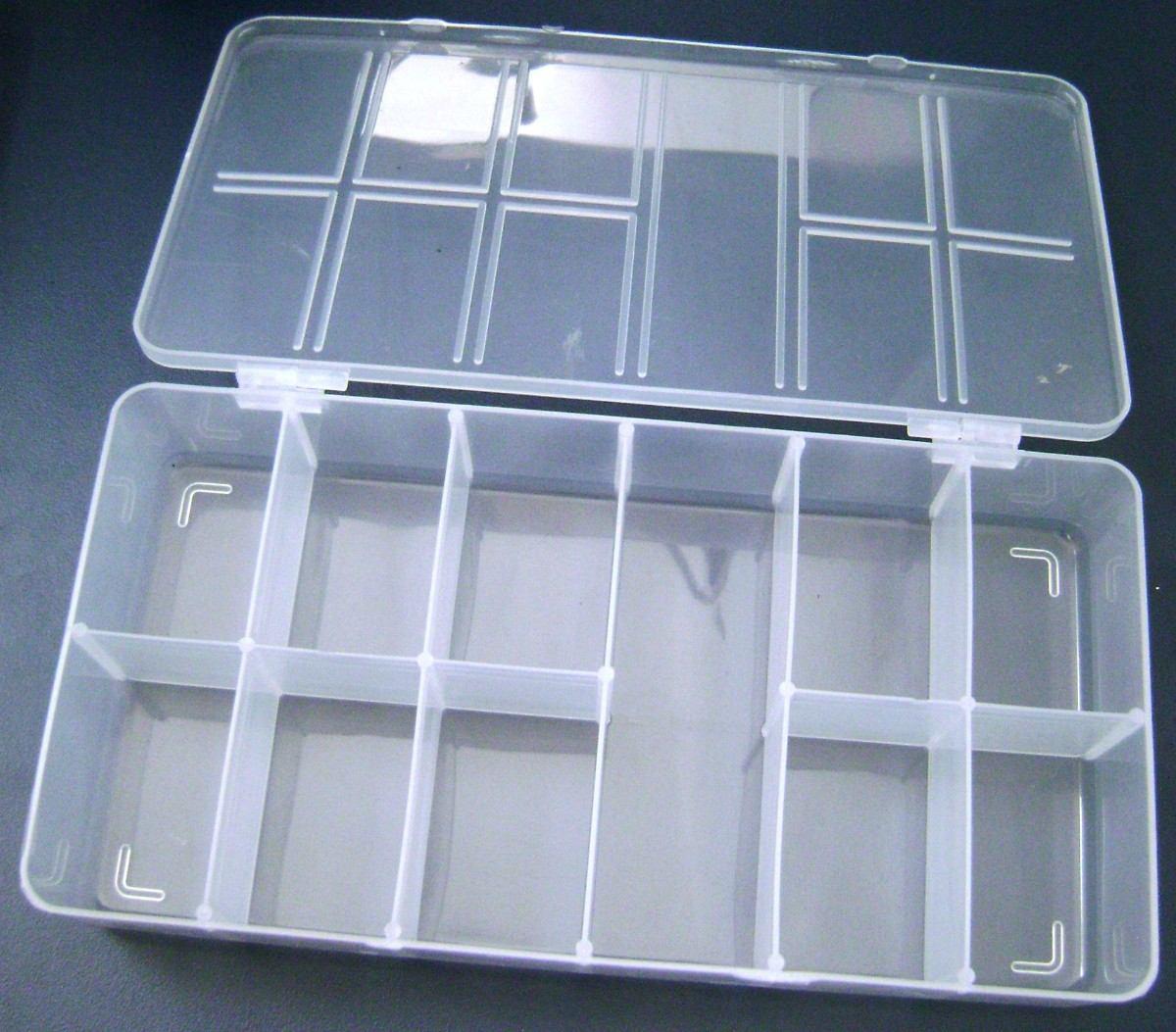caixa plástica organizadora 11 divisórias #23323E 1200x1053