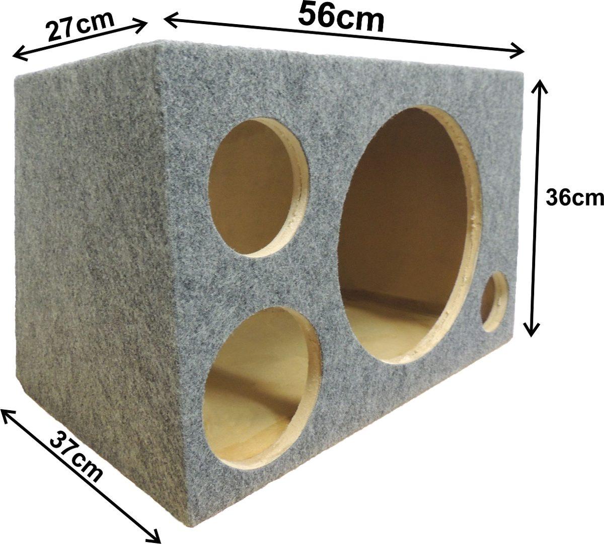 caixa trio em mdf para alto falantes de 12 polegadas comporta 1 alto  #624729 1200x1081