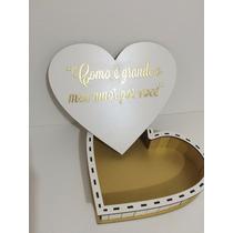 Caixa Formato De Coração Para Presentear Várias Frases