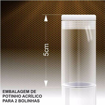 Embalagem Em Acrilico Formato De Pote Para 2 Bolinhas