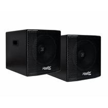 Kit Sub Woofer Ativo + Passivo Master Audio 1x12 Jbl Gwa300