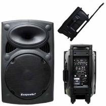 Caixa Ecopower Ep1292 450w Rms 2mic S Fio Controle Usb Sd