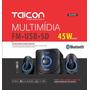 Cx De Som 2.1 Taicon 45w Fm Sd Usb Aux Bluetooth Cont Remoto
