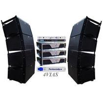 Sistema Completo Line Array 2x12+ti Oversound Loja 4vias