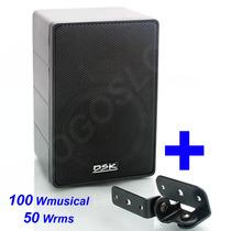 Caixa De Som Acústica Dsk Com Suporte Para Som Ambiente 50w