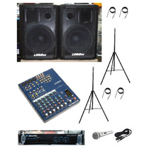 Kit De Som Igreja Mesa Yamaha + Caixas + Pot + Ac!