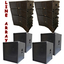 Kit 8 Caixas Line Array 2x8+ti + 4 Caixas Sub 18 9000rms
