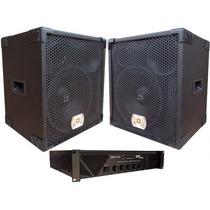2 Caixa Selenium 1x12 Ti + Amplificador Cabeçote Sonorização