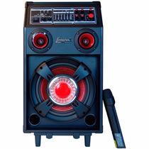 Caixa Amplificadora Lenoxx,usb,sd, Karaokê E Microfone S/fio
