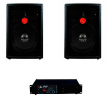 Kit 2 Caixas Leacs Fit 550 + Potencia Leacs Li 1200 300wrms
