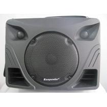 Caixa Amplifi. Ecopower Ep-1297-250 Rms Bateria Recar,usb,fm