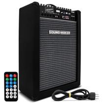 Caixa Amplificada 100w Entrada P/3 Microfones 2 Instrumentos