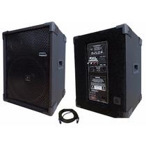 Kit Caixa Som Ativa Passiva 12 500w Jbl Bluetooth Usb Sd Pro