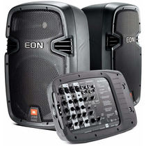 Jbl Caixas E Mesa 8canais Pa Auto-amplificado Jbl Eon 210p