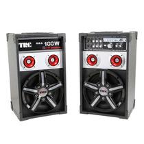 Caixa De Som Amplificada 348 Entrada Usb 2 Microfones - Trc